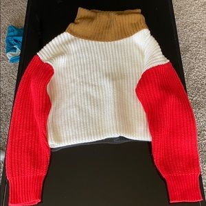 Forever 21 cropped knit sweater